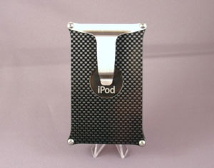 Carbon fiber iPod Video case