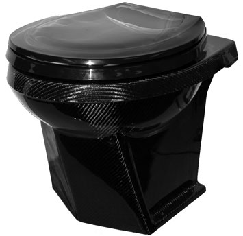Carbon fiber toilet bowl
