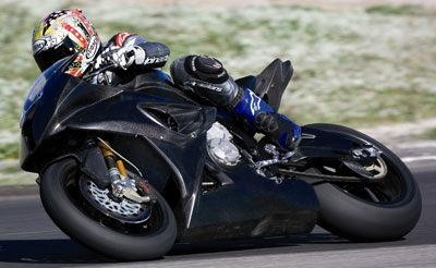 BMW S 1000 RR on the track