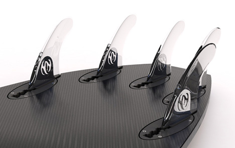 Collapsible carbon fiber surfboard