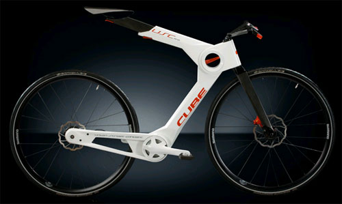 Cube collapsible carbon fiber bike concept