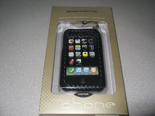 Case-Mate black carbon fiber leather iPhone 3G case in box