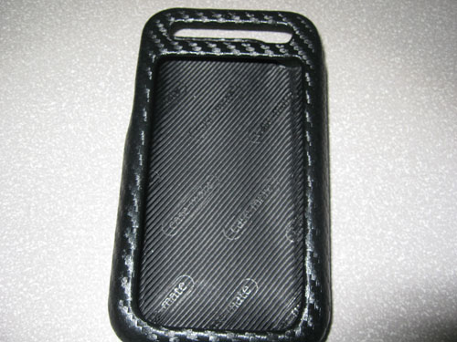 Inside Case-Mate carbon fiber leather iPhone 3G case
