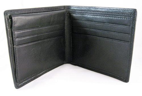 Silver carbon fiber wallet