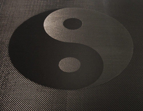 Carbon fiber ying yang coffee table