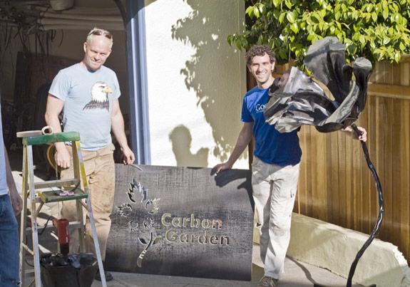 Carbon fiber garden prototype