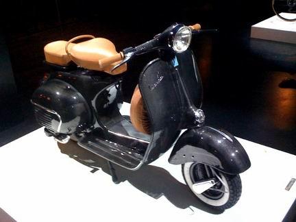Carbon fiber Vespa scooter