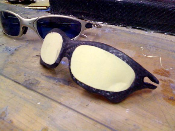 Step-By-Step: Custom Building Carbon Fiber Oakley Juliet Sunglasses