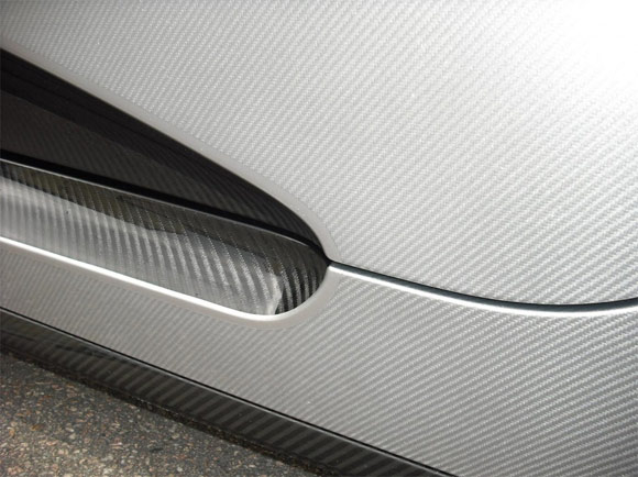 Koenigsegg CCXR Trevita carbon fiber weave close up