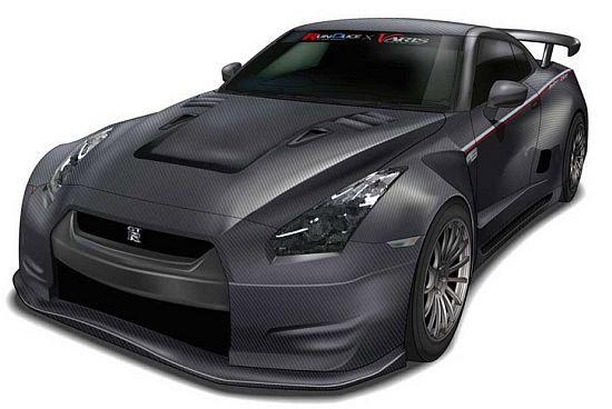 Original Runduce Nissan GT-R carbon fiber body sketch