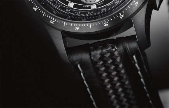 Hamilton X-Mach watch carbon fiber band