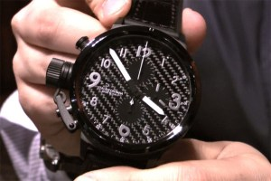 U-Boat Flightdeck carbon fiber watch