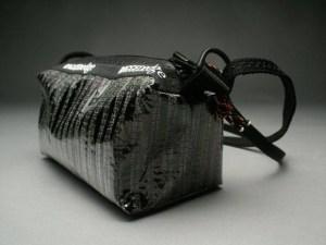 RAGGEDedge Carbon Fiber Purse: Carbon Fiber/ Black