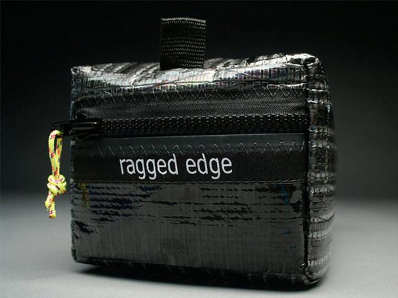 RAGGEDedge Sailcloth Toiletry Bag - Carbon Fiber / Black