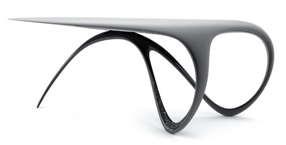 Carbon fiber Jet desk by Brodie Neill