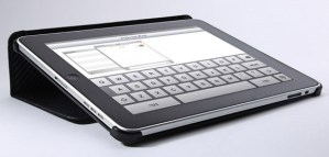 xGear carbon fiber leather Folio iPad case