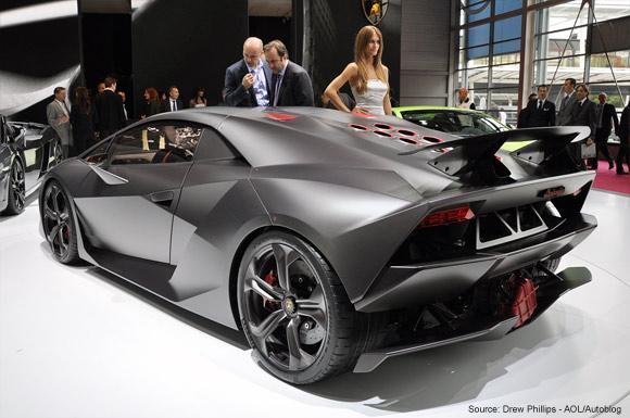 Lamborghini Sesto Elemento carbon fiber concept back