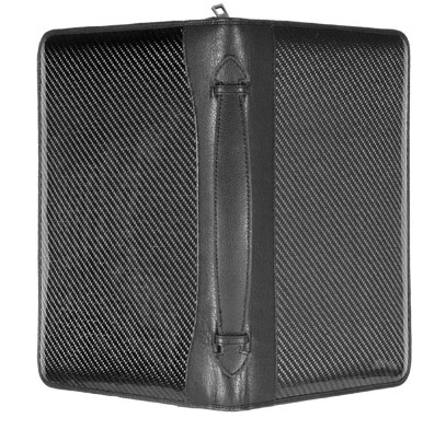 Carbon fiber and leather attache
