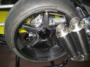 Honda concept carbon fiber motorcycle with BST carbon fiber wheel