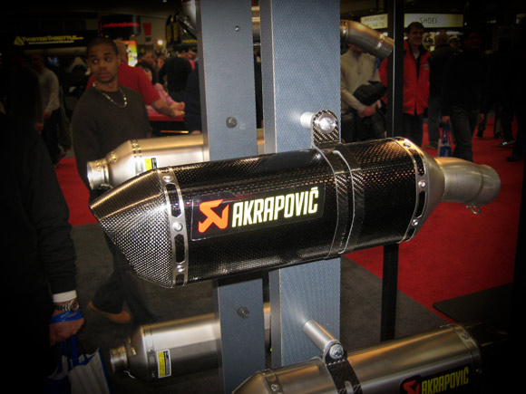 Akrapovic carbon fiber exhaust