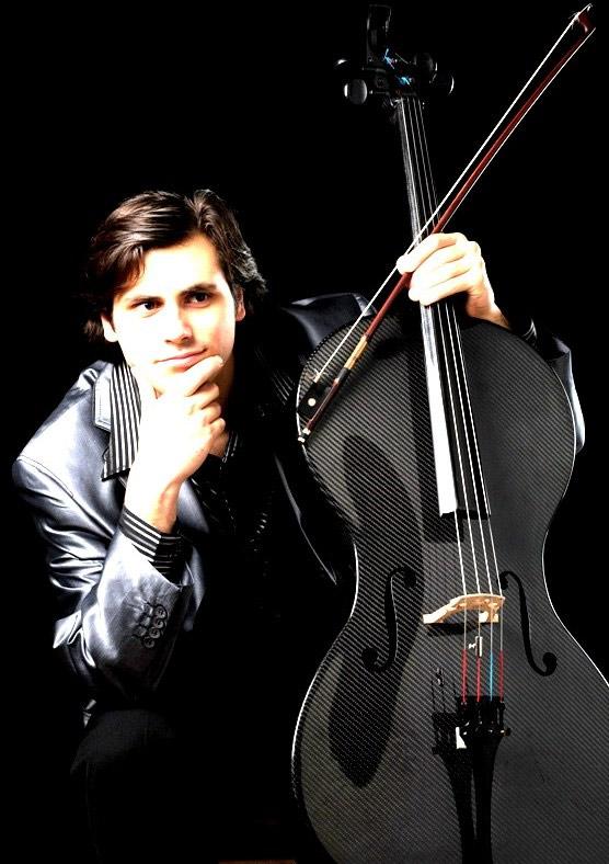 Stjepan Hauser with a carbon fiber cello