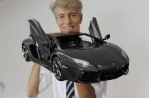 Carbon fiber Lamborghini Aventador model car