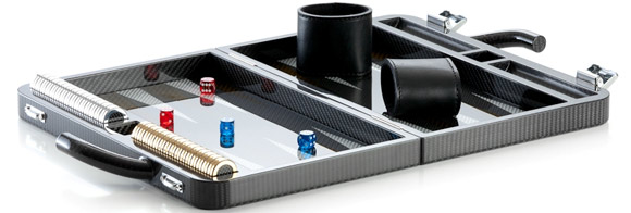 Carbon fiber backgammon game