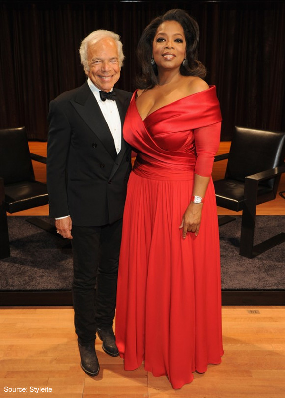 Oprah and Ralph Lauren with RL-CF1 carbon fiber chairs