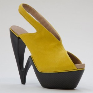 Carbon fiber shoes and heels