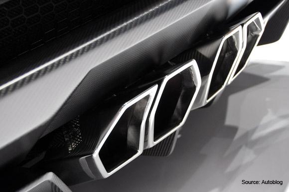 Lamborghini Aventador J carbon fiber rear diffuser