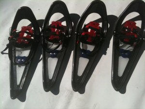Black Kilo carbon fiber snowshoes