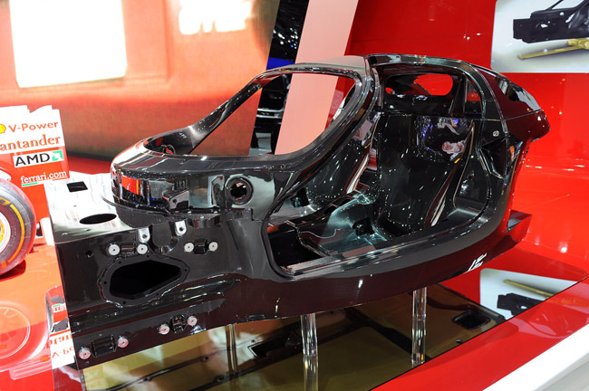 Ferrari F70 Enzo carbon fiber chassis from Paris 2012