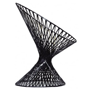 Spun carbon fiber chair