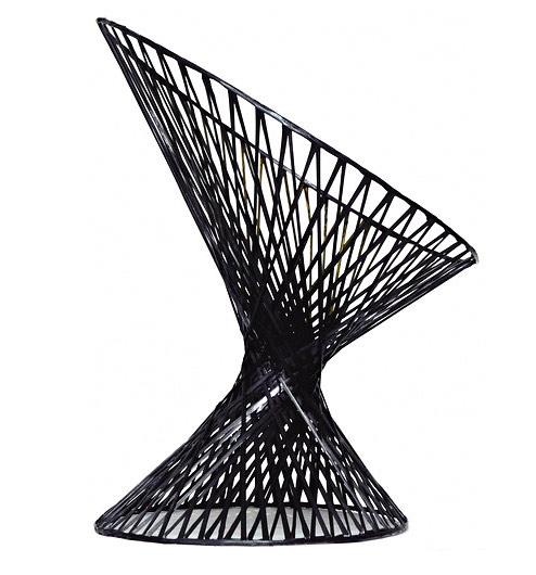 Spun carbon fiber chair