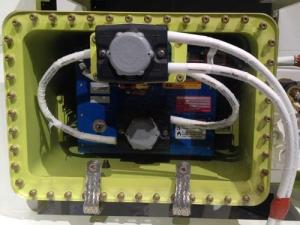 New 787 lithium-ion battery and enclosure.