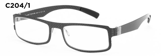 Custom 6 C204/1 carbon fiber eyeglass frames