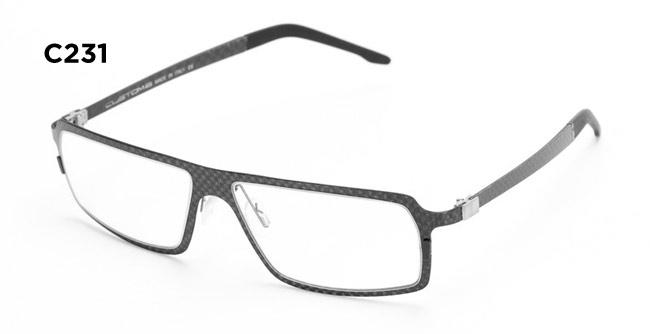 Custom 6 C231 carbon fiber eyeglass frames
