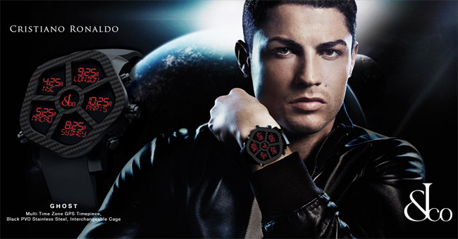 Jacob & Co Ghost watch with Ronaldo