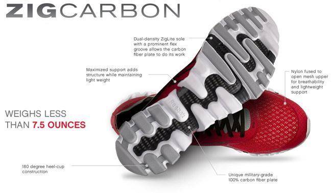 Reebok ZigCarbon carbon fiber sneakers