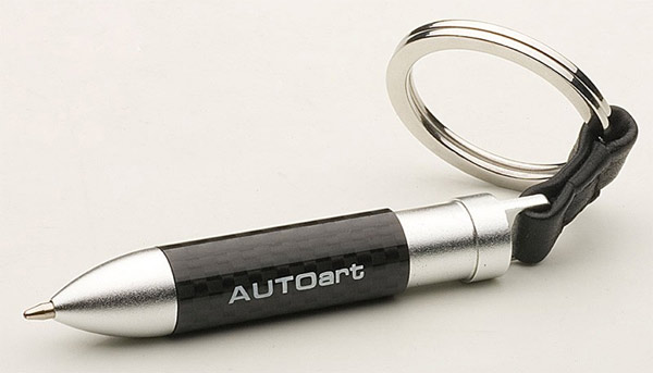 AUTOArt Carbon Fiber Mini Ballpoint Pen Keyring