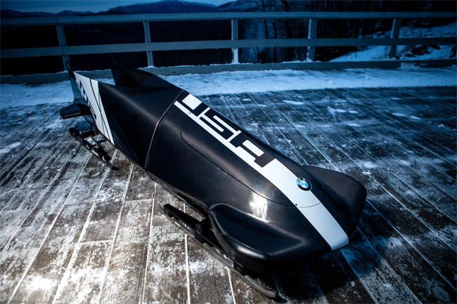 Team USA carbon fiber bobsled by BMW