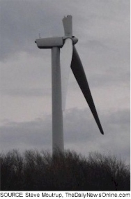 Third wind blade break for GE