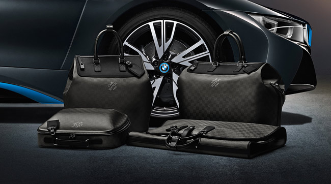 Louis Vuitton Carbon Fiber Bags Match New BMW i8