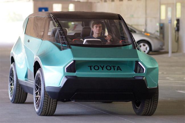 Toyota concept vehicle features carbon fiber