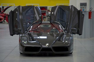 Exposed carbon fiber Enzo Ferrari front