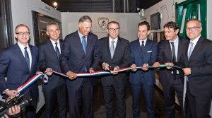Lamborghini research facility ribbon cutting