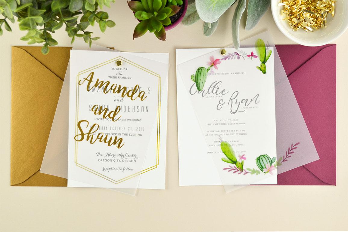 Vellum Wedding Invitations