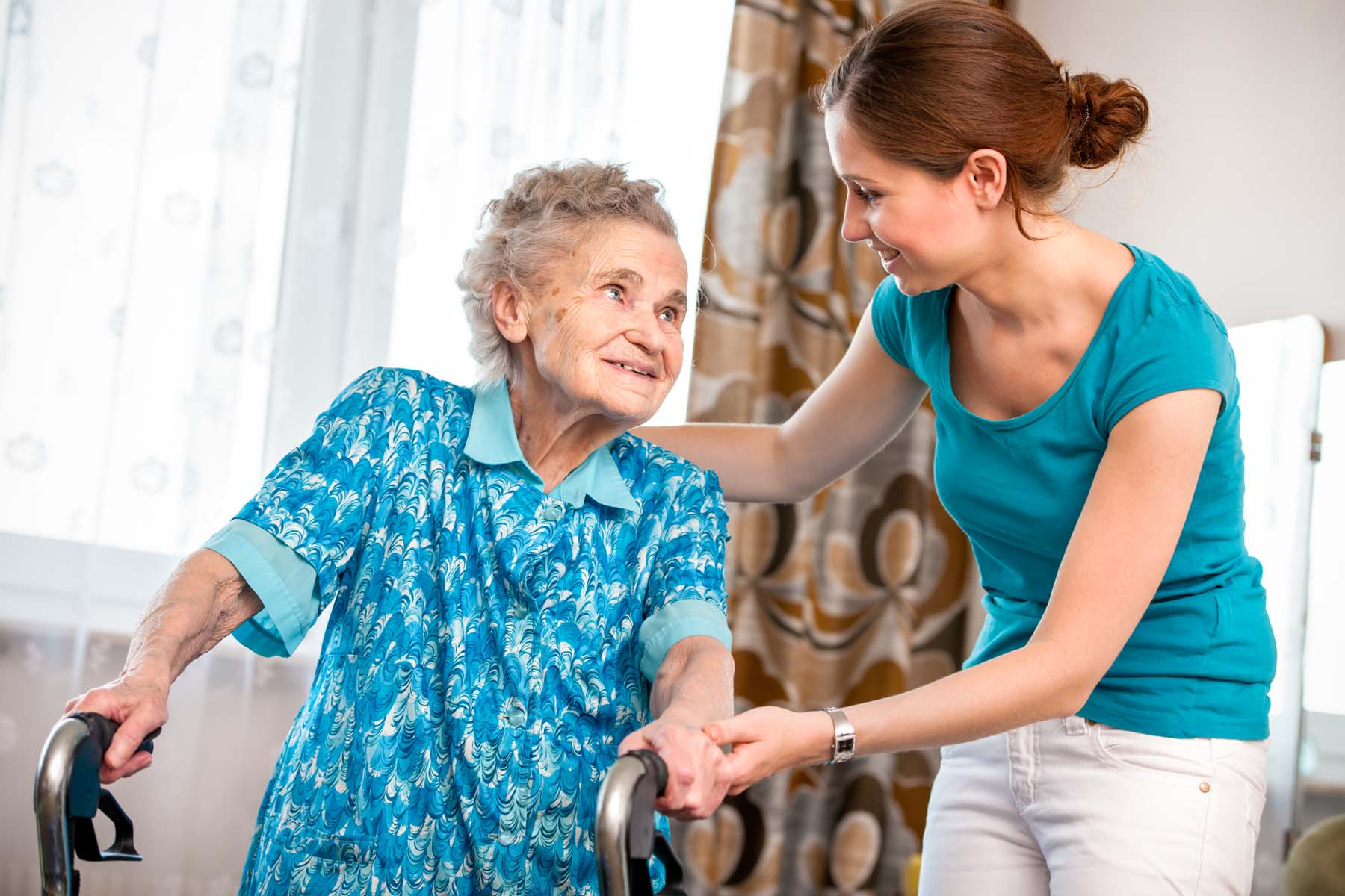 Walking assistance such as walking sticks is a great way to prevent falls in the elderly.
