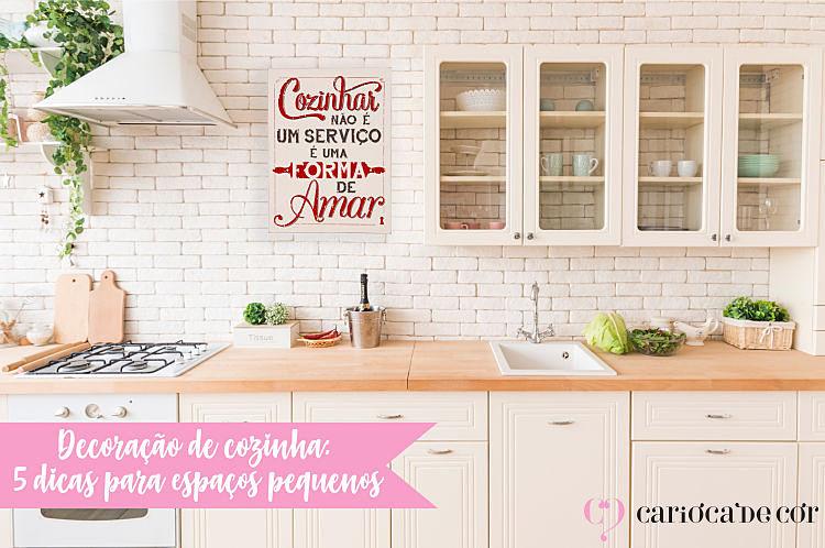 dicas de decoração de cozinha