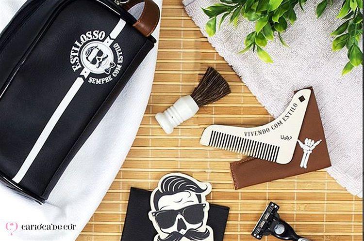kit estojo de barbearia completo